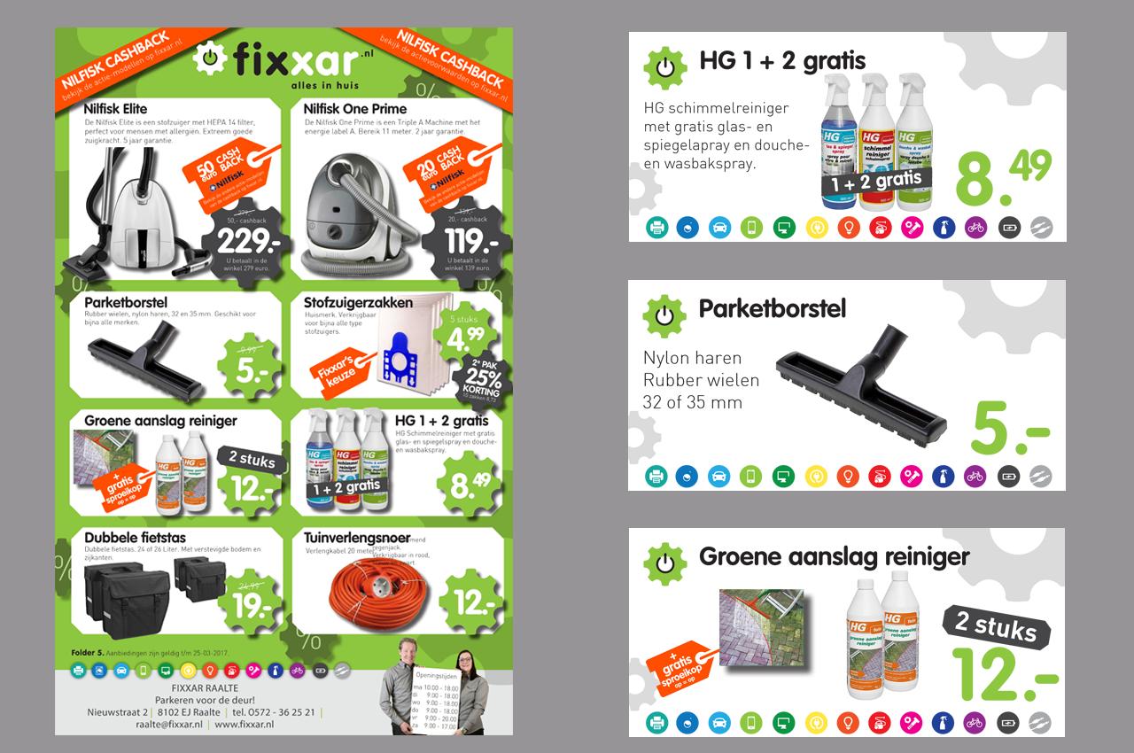 Folder en schapkaarten - Fixxar Nederland